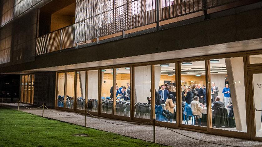 Außenansicht des neuen Schulgebäudes